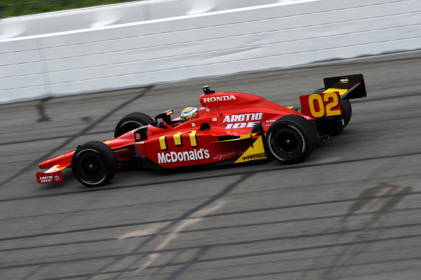 Pole sitter Graham Rahal (USA) Newman Haas Lanigan Racing.IndyCar Series, Rd3, Road Runner Turbo 300, Kansas Speedway, Kansas, USA. 25-26 April 2009.