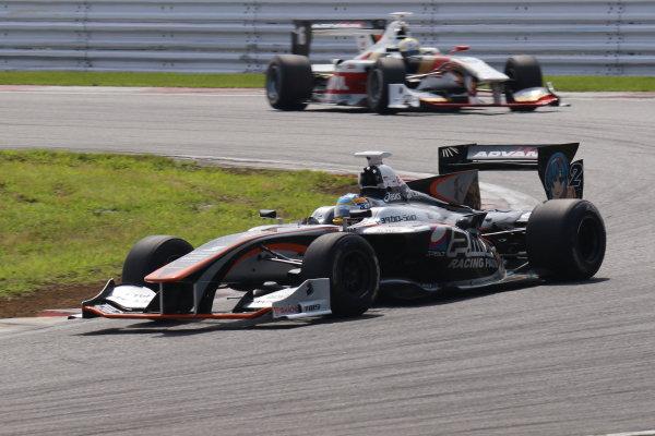 2017 Japanese Super Formula. Fuji, Japan. 8th - 9th July 2017. Rd 3. Winner Hiroaki Ishiura ( #2 P.MU/CERUMO ? INGING SF14 ) action World Copyright: Yasushi Ishihara / LAT Images. Ref: 2017SF_Rd3_003