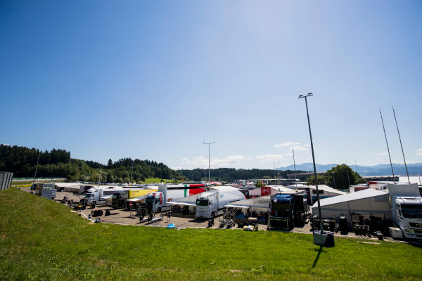 2017 GP3 Series Round 2.  Red Bull Ring, Spielberg, Austria. Thursday 6 July 2017. A view of the paddock. Photo: Zak Mauger/GP3 Series Media Service. ref: Digital Image _56I9964