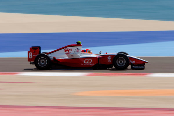 Bahrain International Circuit. Sakhir, Bahrain.Thursday Practice. 25th February.Sam Bird (GBR, ART Grand Prix). Action. World Copyright: Alastair Staley/GP2 Media Service.Ref: _O9T2262 jpg