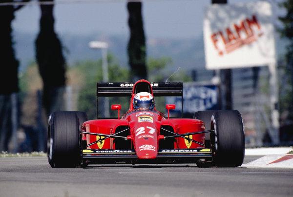1991 San Marino Grand Prix.Imola, Italy.26-28 April 1991.Alain Prost (Ferrari 642).Ref-91 SM 42.World Copyright - LAT Photographic