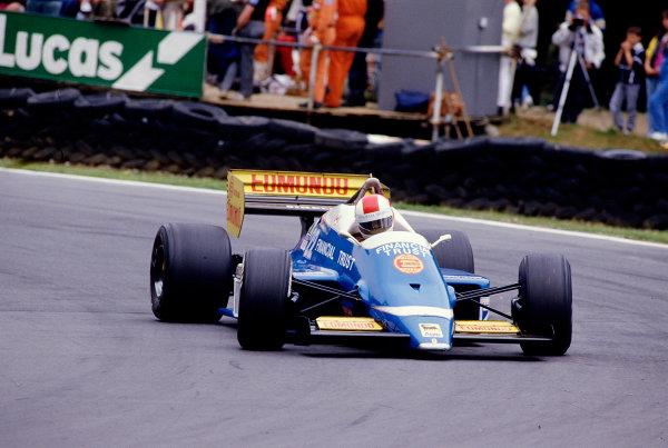 1986 British Grand Prix. Brands Hatch, England. 11-13 July 1986. Allen Berg (Osella FA1H Alfa Romeo). Ref-86 GB 66. World Copyright - LAT Photographic