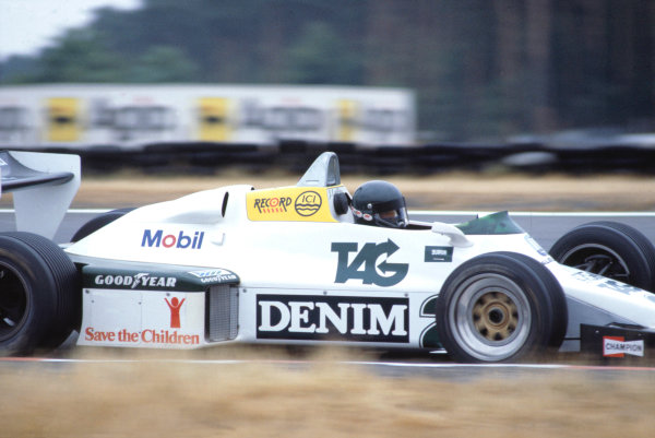 1983 German Grand Prix.Hockenheim, Germany. 7 August 1983.Jacques Laffite (Williams FW08C-Ford Cosworth).World Copyright: LAT Photographic