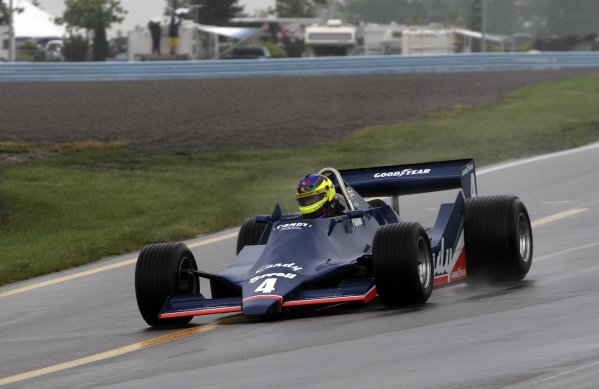 2 - 4 June, 2006, Watkins Glen, New York, USA, Rick Knoop in the Tyrrell F-1 originally driven by Didier Pironi,© 2006 Dan Streck/USA, LAT Photographic