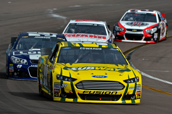 March 1-3, 2013 Avondale, Arizona USA Carl Edwards pack.(c) 2013, Brian Czobat LAT Photo USA .