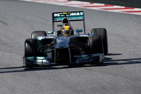 Circuit de Catalunya, Barcelona, Spain 12th May 2013 Lewis Hamilton, Mercedes W04.  World Copyright: Glenn Dunbar/LAT Photographic ref: Digital Image _89P6161