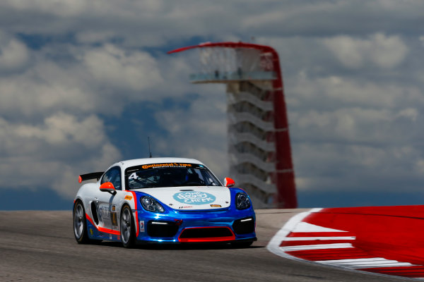 IMSA Continental Tire SportsCar Challenge Advance Auto Parts SportsCar Showdown Circuit of The Americas, Austin, TX USA Thursday 4 May 2017 4, Porsche, Porsche Cayman GT4, GS, Ted Giovanis, Guy Cosmo World Copyright: Jake Galstad LAT Images