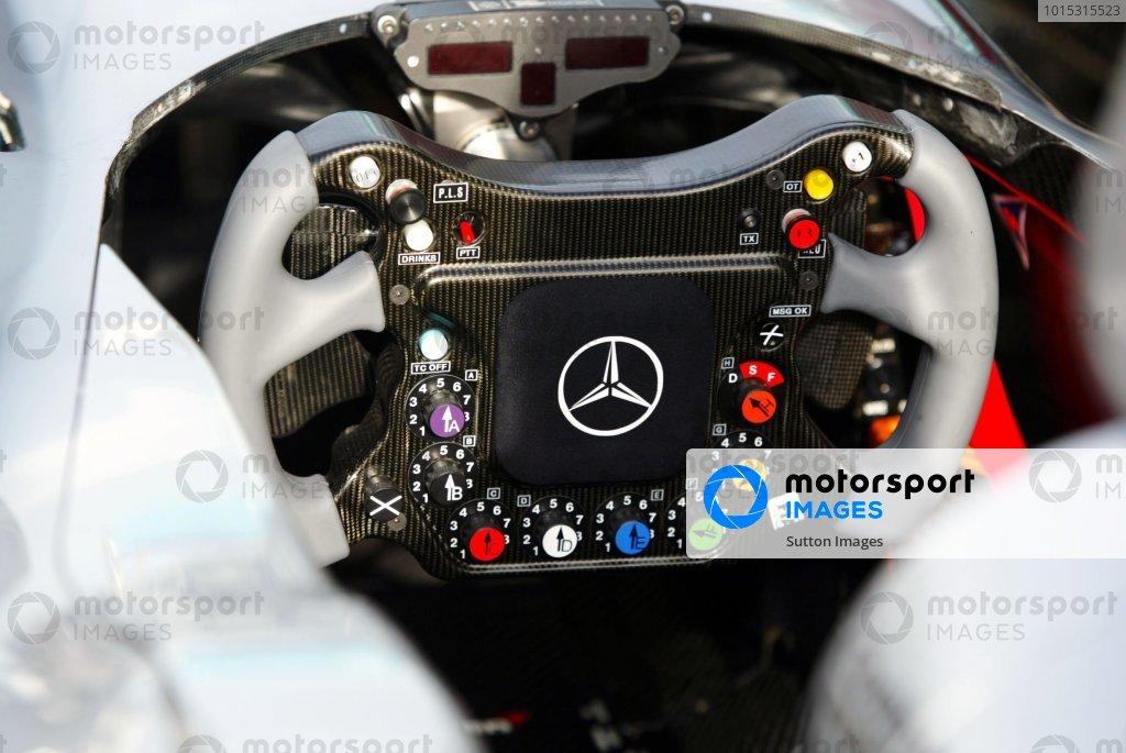 The steering wheel of the McLaren MP4/19.Malaysian Grand Prix, Rd 2, Sepang, Kuala Lumpur, Malaysia, 18 March 2004.DIGITAL IMAGE