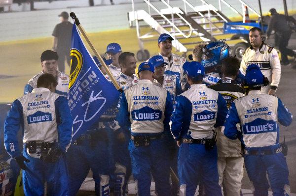 18-20 November, 2016, Homestead, Florida USA Jimmie Johnson Championship Victory Lane Celebrations © 2016, Nigel Kinrade LAT Photo USA
