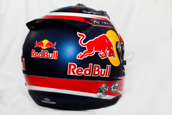 Circuito de Jerez, Jerez, Spain. Tuesday 3 February 2015. Helmet of Daniil Kvyat, Red Bull Racing.  World Copyright: Red Bull Racing (Copyright Free FOR EDITORIAL USE ONLY) ref: Digital Image 2015_RED_BULL_HELMET_03
