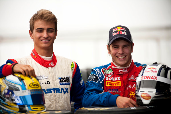 Round 5. Nurburgring, Germany. 21st July 2011.Thursday Preview. Nico Muller, (SUI, Jenzer Motorsport) and Lewis Williamson, (GBR, MW Arden), winners of races 7 and 8 at round 4 in Silverstone. Portrait. Photo: Drew Gibson/GP3 Media Service.  ref: Digital Image _Y2Z3719