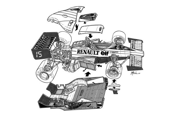 Renault RE60 1985 exploded detailed overview