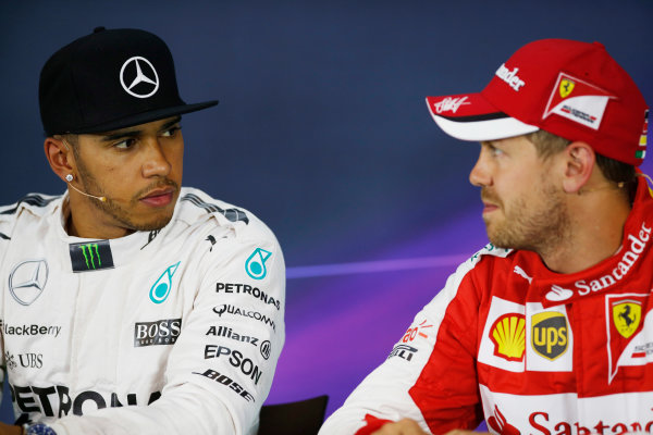 Red Bull Ring, Spielberg, Austria. Saturday 20 June 2015. Pole starter Lewis Hamilton, Mercedes AMG, and s, in the post qualifying Press Conference. World Copyright: Glenn Dunbar/LAT Photographic. ref: Digital Image _89P4001