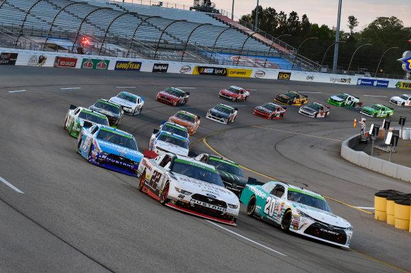 24 April, 2015, Richmond, Virginia USA Denny Hamlin, Hisense Toyota Camry and Joey Logano ? 2015, Nigel Kinrade LAT Photo USA