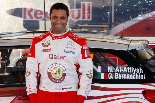 Round 02 - Rally Sweden 09-12 February 2012. Nasser Al-Attiyah, Citroen WRC, Portrait.  Worldwide Copyright: McKlein/LAT