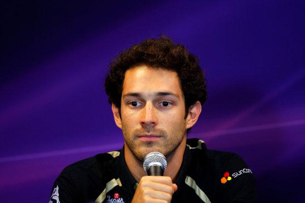 Spa-Francorchamps, Spa, Belgium25th August 2011.Bruno Senna, Lotus Renault GP R31 in the Thursday Press conference.World Copyright: Andrew Ferraro/LAT Photographicref: Digital Image _Q0C8068