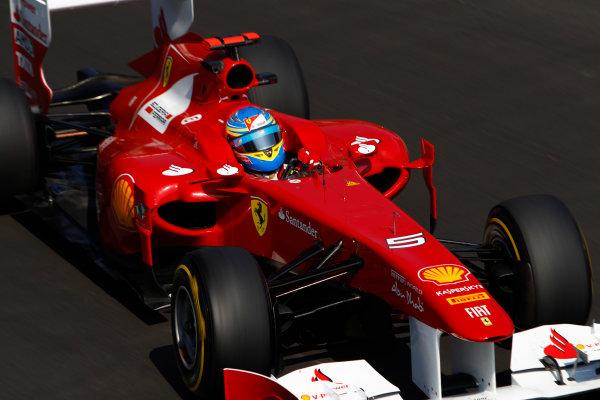Autodromo Nazionale di Monza, Monza, Italy.9th September 2011.Fernando Alonso, Ferrari 150Â¡ Italia. Action.World Copyright: Glenn Dunbar/LAT Photographicref: Digital Image _G7C0744