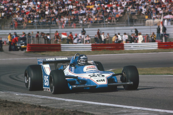 Zandvoort, Holland. 24 - 26 August 1979. Jacky Ickx, Ligier JS11 Ford, 5th position. Ref: 79HOL21. World Copyright: LAT Photographic