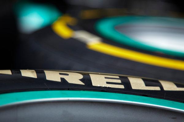 Interlagos, Sao Paulo, Brazil. 24th November 2011. Pirelli Tyres. Detail.  World Copyright: Steve Etherington/LAT Photographic ref: Digital Image SNE24013
