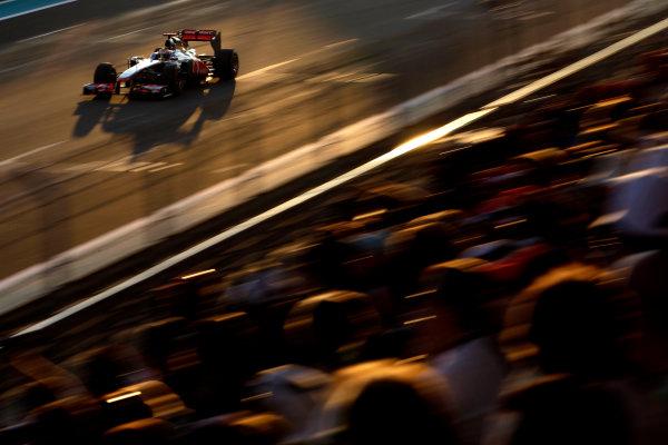 Yas Marina Circuit, Abu Dhabi, United Arab Emirates13th November 2011.Lewis Hamilton, McLaren MP4-26 Mercedes, 1st position. Action. World Copyright:Glenn Dunbar/LAT Photographic ref: Digital Image _G7C5348