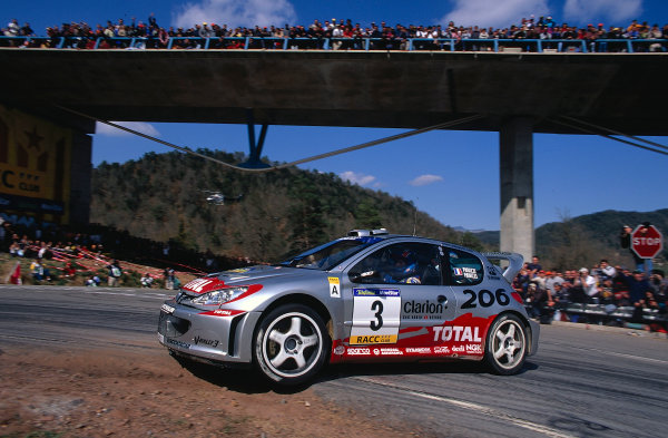 2002 World Rally ChampionshipRally Catalunya, Spain. 21st - 24th March 2002.Gilles Panizzi, Peugeot 206 WRC, 1st position overall.World Copyright: McKlein/LAT Photographic.ref: 35mm Image 02 WRC 14