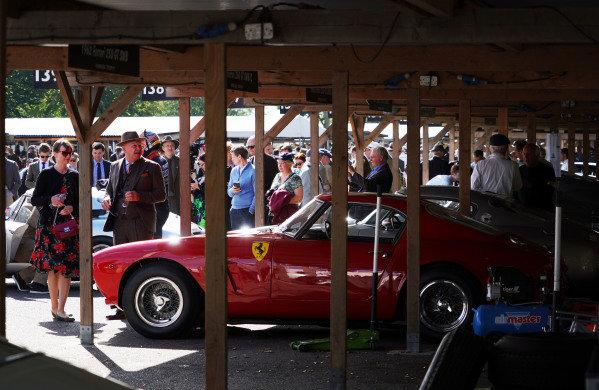 Ferrari 250 GT SWB/C in the paddock.