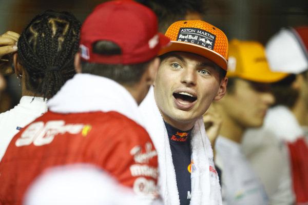 Max Verstappen, Red Bull Racing, jokes with Charles Leclerc, Ferrari