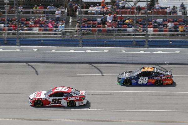 #96: Harrison Burton, Gaunt Brothers Racing, Toyota Camry DEX Imaging, #99: Daniel Suarez, TrackHouse Racing, Chevrolet Camaro CommScope