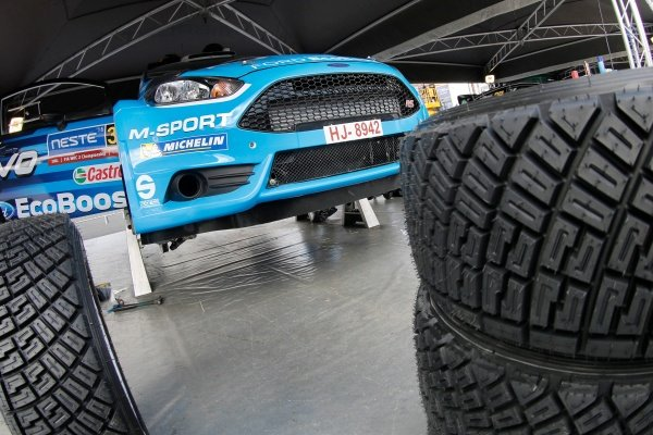 M-Sport World Rally Team Ford Fiesta WRC at FIA World Rally Championship, Rd8, Neste Oil Rally Finland, Preparations, Jyvaskyla, Finland, 27 July 2016.