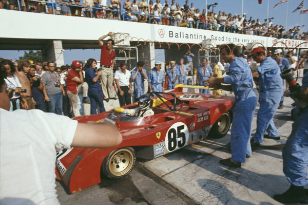 Jacky Ickx / Mario Andretti, SEFAC Ferrari, Ferrari 312 PB comes in for a pitstop.