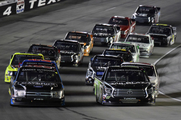 #17: Tyler Ankrum, DGR-Crosley, Toyota Tundra RAILBLAZA and #99: Ben Rhodes, ThorSport Racing, Ford F-150