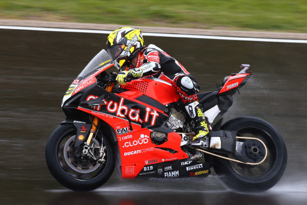 Alvaro Bautista, Aruba.it Racing-Ducati Team assessment lap.
