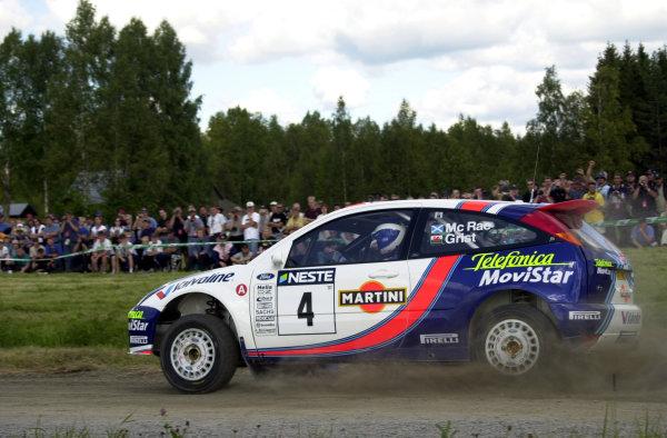 2001 World Rally Championship.Neste Rally Finland. Jyvaskyla, August 24-26, 2001.Colin McRae on stage 4.Photo: Ralph Hardwick/LAT