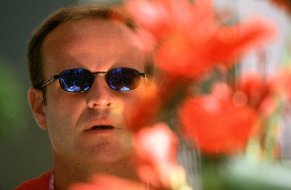 Australian Grand Prix.Albert Park, Melbourne, Australia. 2-4 March 2001.Rubens Barrichello (Ferrari) 3rd position.World Copyright - Michael Cooper/LAT Photographic ref: 35mm Image Aus A14