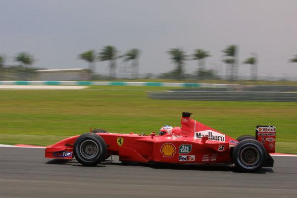 2001 Malaysian Grand Prix.Sepang, Kuala Lumpur, Malaysia.16-18 March 2001.Rubens Barrichello (Ferrari F2001) 2nd position.World Copyright - LAT PhotographicRef-8 9MB Digital