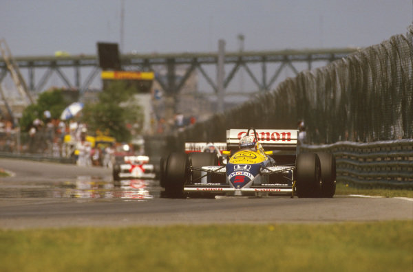 Montreal, Quebec, Canada.13-15 June 1986.Nigel Mansell (Williams FW11 Honda) 1st position.Ref-86 CAN 10.World Copyright - LAT Photographic