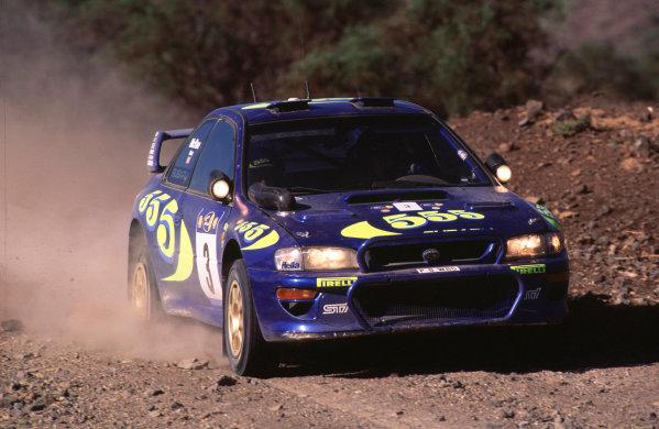 1997 World Rally Championship.Safari Rally, KenyaColin McRae/Nicky Grist (Subaru Impreza WRC), 1st position.World - LAT Photographic