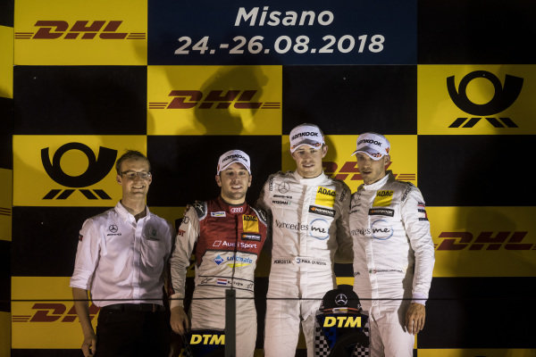 Podium: Race winner Paul Di Resta, Mercedes-AMG Team HWA, Mercedes-AMG C63 DTM, second place Robin Frijns, Audi Sport Team Abt Sportsline, Audi RS5 DTM and third place Edoardo Mortara, Mercedes-AMG Team HWA, Mercedes-AMG C63 DTM.