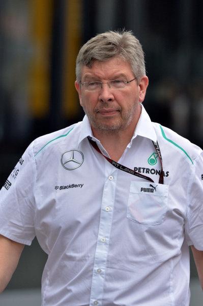 Ross Brawn (GBR) Mercedes AMG F1 Team Principal. Formula One World Championship, Rd9, German Grand Prix, Preparations, Nurburgring, Germany, Thursday 4 July 2013.