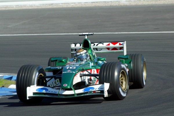 Eddie Irvine (GBR) Jaguar Cosworth R3.German Grand Prix, Hockenheim, Germany, 28 July 2002.DIGITAL IMAGE