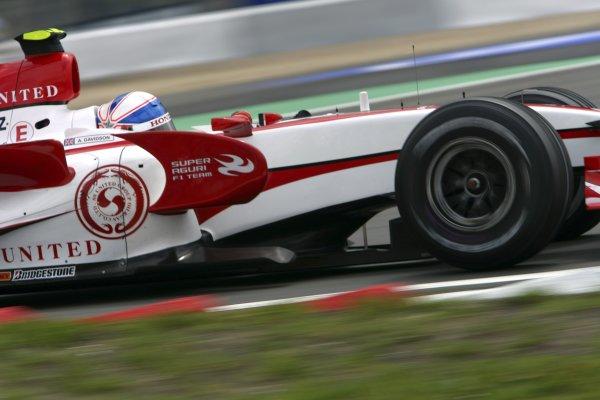 2007 European Grand Prix - Friday PracticeNurburgring, Germany.20th July 2007.Anthony Davidson, Super Aguri SA07-Honda. Action. World Copyright: Glenn Dunbar/LAT Photographicref: Digital Image YY8P4576