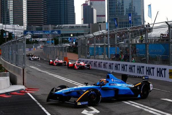 2016/2017 FIA Formula E Championship. Hong Kong ePrix, Hong Kong, China. Sunday 9 October 2016. Sebastien Buemi (SUI), Renault e.Dams, Spark-Renault, Renault Z.E 16.  Photo: Zak Mauger/LAT/Formula E ref: Digital Image _X0W2486
