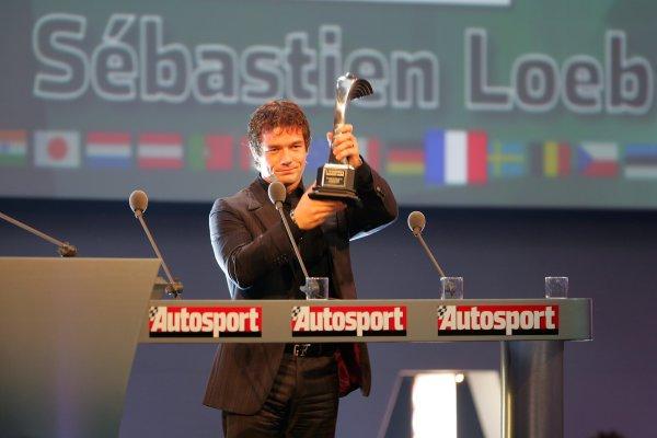 2005 Autosport AwardsGrosvenor House, London. 4th December.Sebastien Loeb receives the International Rally Driver Award.World Copyright: Glenn Dunbar/LAT Photographicref: Digital Image Only