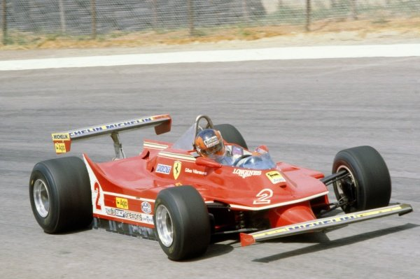 1980 South African Grand Prix.Kyalami, South Africa. 28 February-1 March 1980.Gilles Villeneuve (Ferrari 312T5), retired.World Copyright: LAT PhotographicRef: 35mm transparency 80SA19