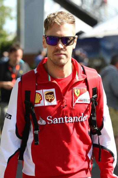 Sebastian Vettel (GER) Ferrari at Formula One World Championship, Rd1, Australian Grand Prix, Practice, Albert Park, Melbourne, Australia, Friday 13 March 2015.