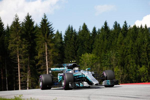 Red Bull Ring, Spielberg, Austria. Friday 7 July 2017. Valtteri Bottas, Mercedes F1 W08 EQ Power+. World Copyright: Andrew Hone/LAT Images ref: Digital Image _ONZ9904