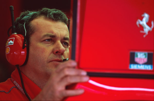 Hockenheim, Germany. 28-30 July 2000.  Ferrari Chief Mechanic Nigel Stepney, portrait. World Copyright: LAT Photographic