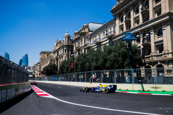 2017 FIA Formula 2 Round 4. Baku City Circuit, Baku, Azerbaijan. Friday 23 June 2017. Nicholas Latifi (CAN, DAMS)  Photo: Zak Mauger/FIA Formula 2. ref: Digital Image _54I9416