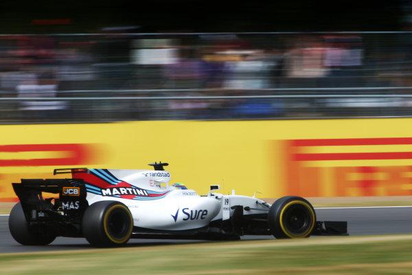 Silverstone, Northamptonshire, UK.  Friday 14th July 2017. Felipe Massa, Williams FW40 Mercedes World Copyright: JEP/LAT Images