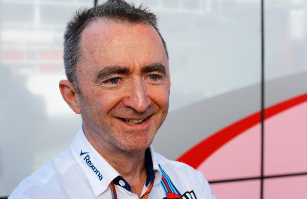 Circuit de Catalunya, Barcelona, Spain. Saturday 13 May 2017. Paddy Lowe, Chief Technical Officer, Williams Martini Racing Formula 1. World Copyright: Steven Tee/LAT Images ref: Digital Image _R3I2308